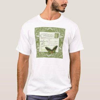 Tshirts Antique French postcard with stamp