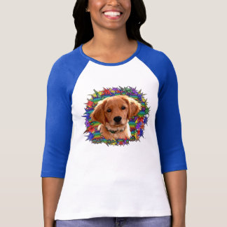 Tshirts Arco-íris do golden retriever