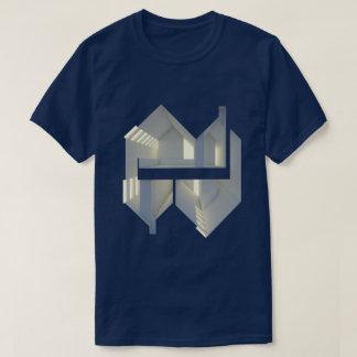 Tshirts Arte do conceito da arquitetura da reflexão 01 da