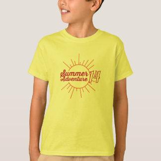 Tshirts Aventura 2014 do verão - criança