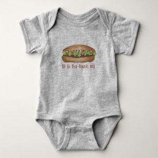 Tshirts B é para o sanduíche vietnamiano da carne de porco