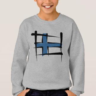 Tshirts Bandeira da escova de Finlandia