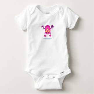 Tshirts Body Algodão Bebé Monstro