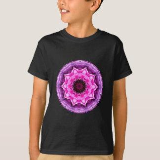Tshirts Caleidoscópio roxo & cor-de-rosa do ranúnculo