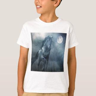 Tshirts Cavalo animal abstrato do luar