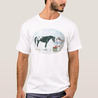 Tshirts Cavalo e boneco de neve do Appaloosa, ovais