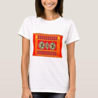 Tshirts Da energia santamente vermelha da cor do açafrão
