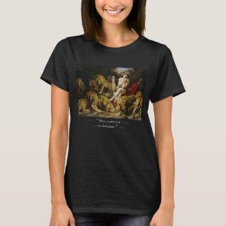Tshirts Daniel na pintura de Peter Paul Rubens do antro do