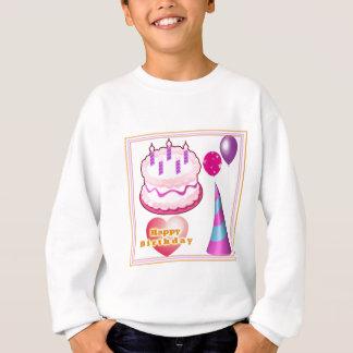 Tshirts Decorações do balão do bolo de HappyBIRTHDAY