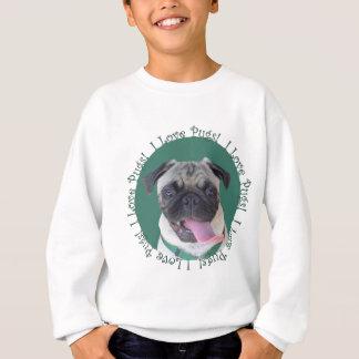 Tshirts Design bonito do cão dos Pugs do amor de I