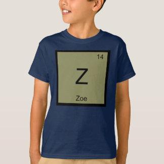 Tshirts Do elemento conhecido da química de Zoe mesa