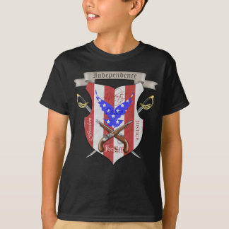 Tshirts Do miúdo transversal da crista da espada do Dia da