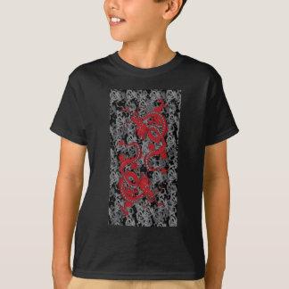 Tshirts Dragões do vermelho de Ying Yang