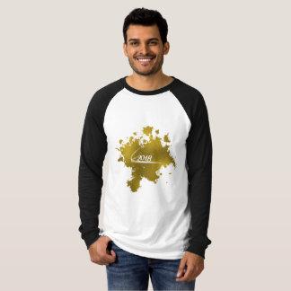 Tshirts Efeito 2018 da folha de ouro da boa vinda