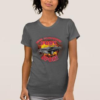 Tshirts Esporte 1963 da fúria de Plymouth das mulheres
