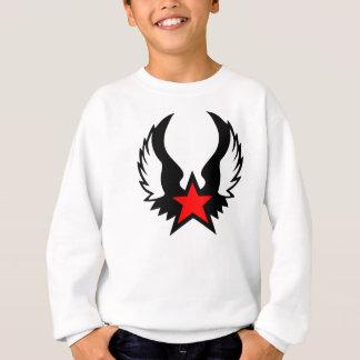 Tshirts Estrela vermelha w/wings, camisola dos meninos