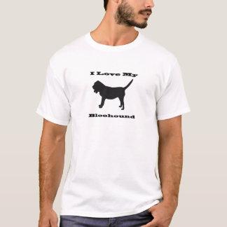 Tshirts Eu amo meu Bloodhound