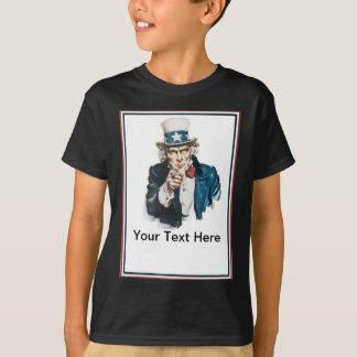 Tshirts Eu quero-o que o tio Sam personaliza seu texto