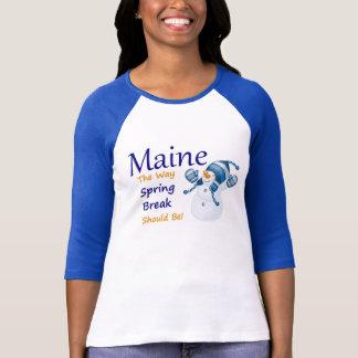 Tshirts Férias da primavera em Maine!