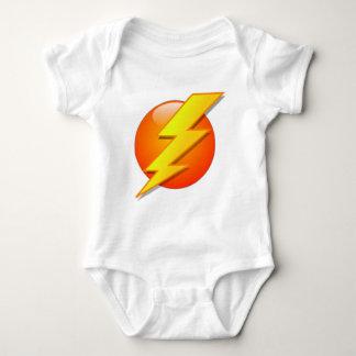 Tshirts Flash do relâmpago na bola alaranjada