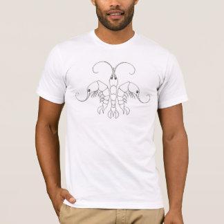 Tshirts Flor de lis do camarão