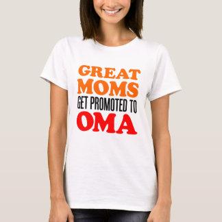 Tshirts Grandes mães promovidas a Oma