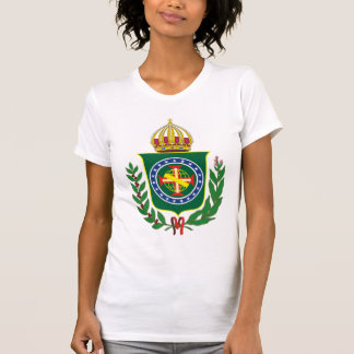 Tshirts Império da camisola de alças do emblema de Brasil