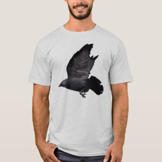 Tshirts Jackdaw do vôo, design do Corvo-amante
