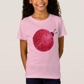 Tshirts Joaninha abstrato esférico bonito da aguarela