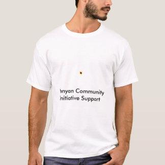 Tshirts KCIS, apoio da iniciativa de comunidade do Kenyan