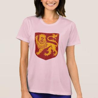Tshirts Leão dourado na heráldica vermelha do protetor