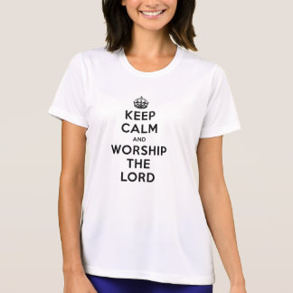 Tshirts Mantenha a calma & adore o senhor