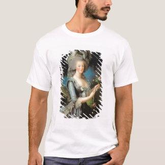 Tshirts Marie Antoinette com um rosa, 1783