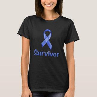 Tshirts Marinho do sobrevivente de câncer