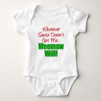 Tshirts Meemaw melhor do que o papai noel