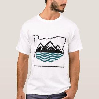 Tshirts Montanhas e ondas de Oregon