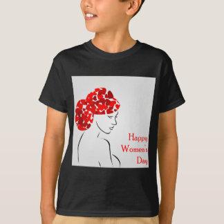 Tshirts Mulher com um gráfico bonito do penteado para