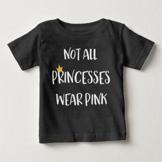 Tshirts Não todas as princesas Vestir-se Cor-de-rosa
