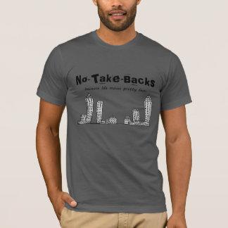 Tshirts No-Tomada-Partes traseiras cinzentas