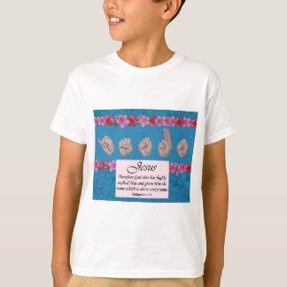 Tshirts Nomes do nome de Jesus sobretudo