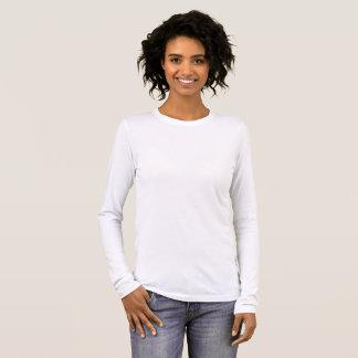 Tshirts O Bella das mulheres+T-shirt longo da luva das