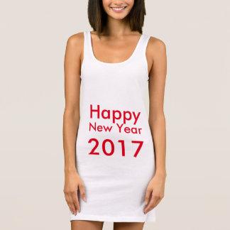 Tshirts O feliz ano novo editável 2017 do texto do modelo