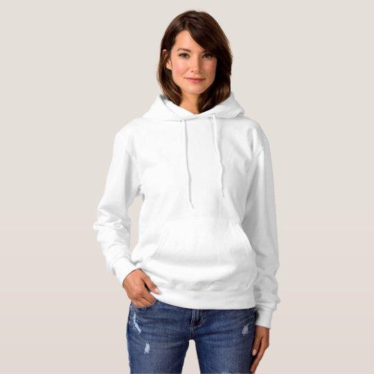 Suéter básico com capuz feminino, Branco