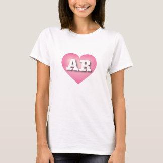 Tshirts O rosa de Arkansas desvanece-se coração - amor