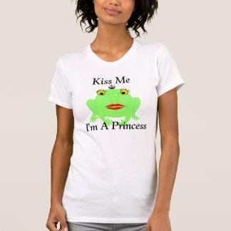 Tshirts O sapo verde beija-me que eu sou uma princesa