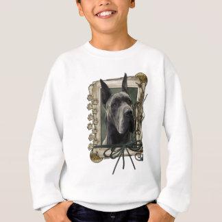 Tshirts Obrigado - as patas de pedra - great dane - cinza