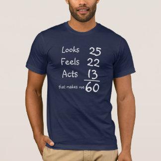 Tshirts Olha, sente, actua 60th T do aniversário