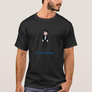 Tshirts Padrinho de casamento do pixel - marinho