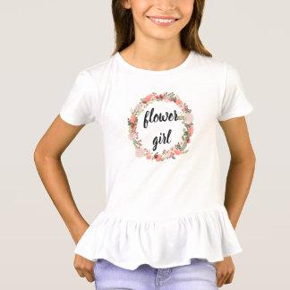 Tshirts Parte superior floral cor-de-rosa do florista da