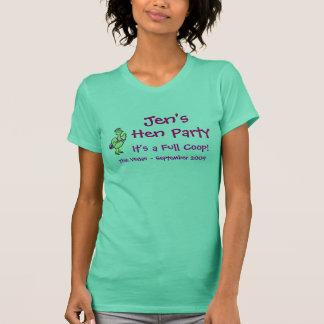 Tshirts Partido de galinha de Jen - galinhas
